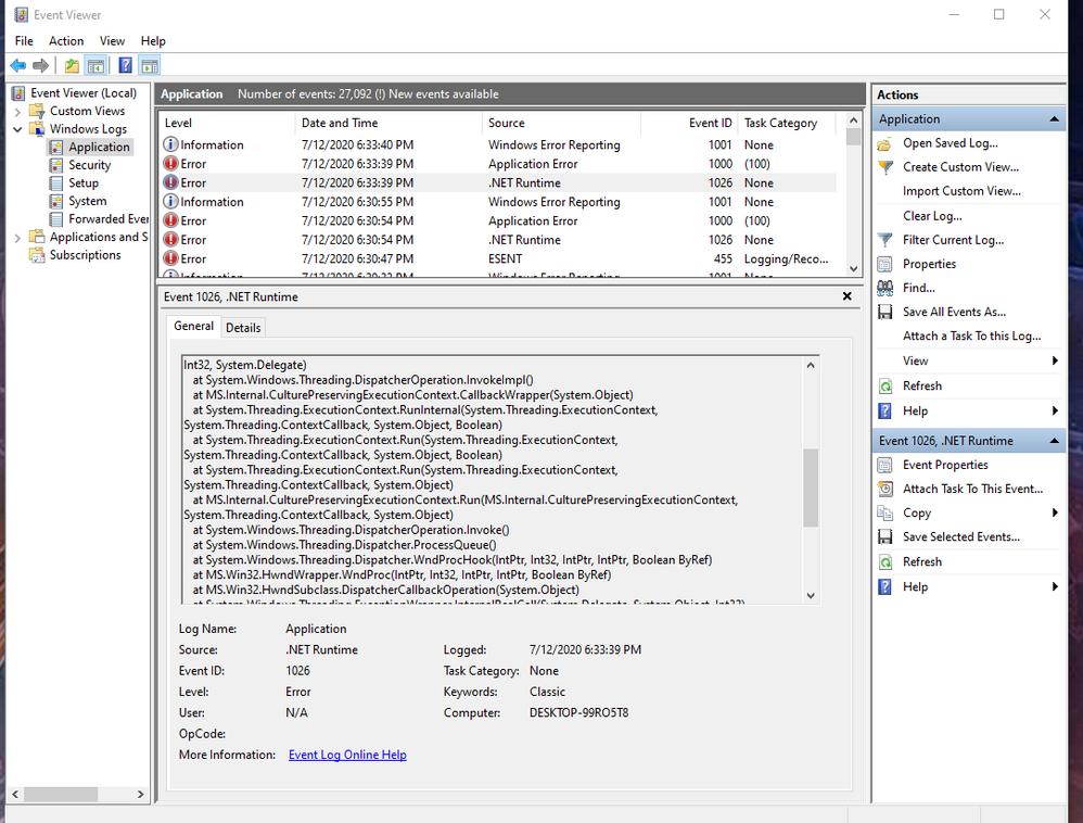 .Net Runtime error2 source tree.png