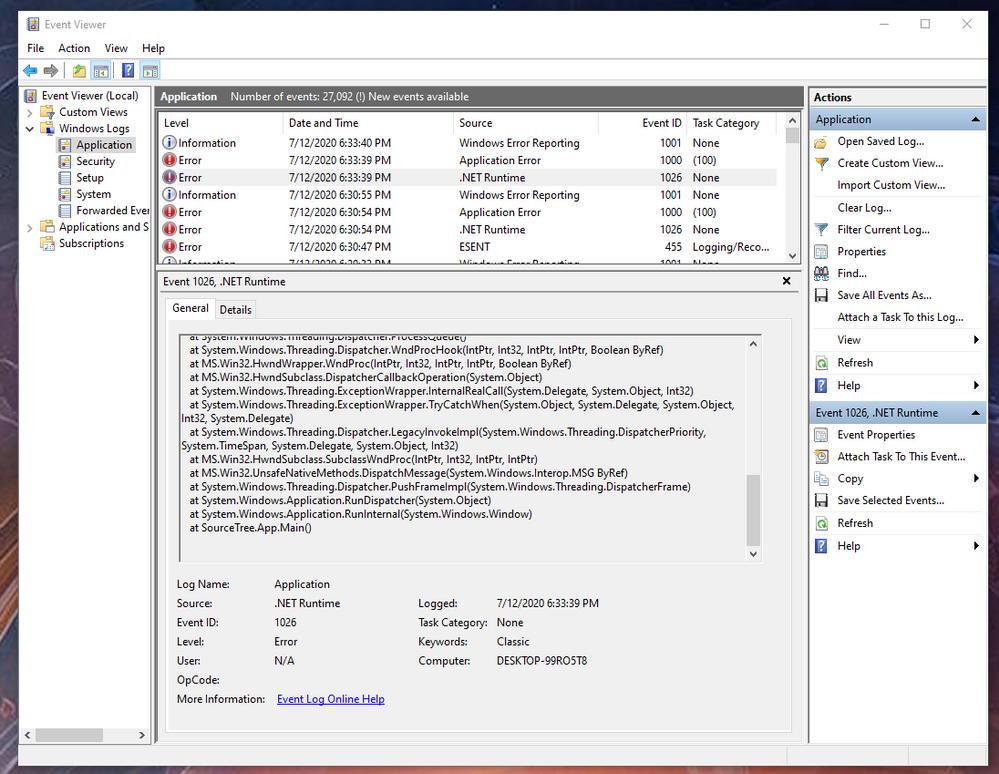 .Net Runtime error3 source tree.png