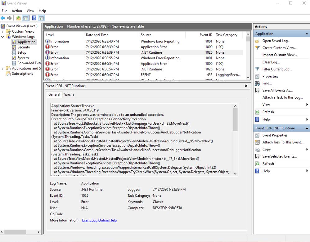 .Net Runtime error source tree.png