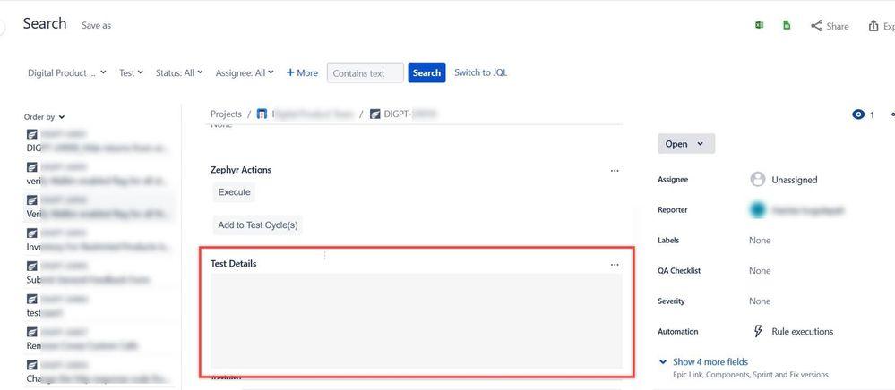 Microsoft Edge-Jira issue with Test Details field.jpg