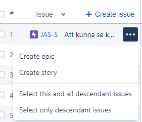 Create issue context menu.PNG