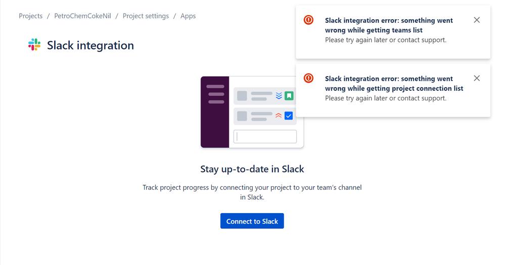slack integration error.PNG