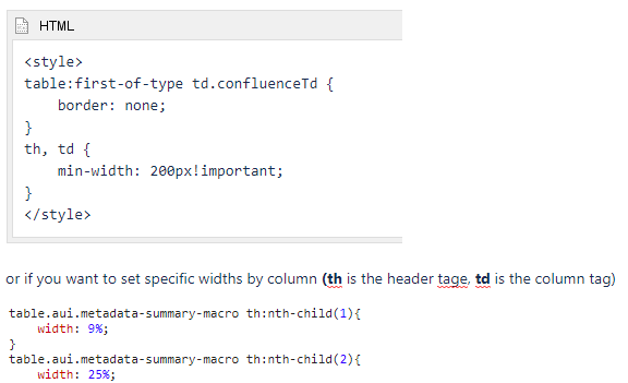 Page Properties Report Macro - Ability to define column widths.png