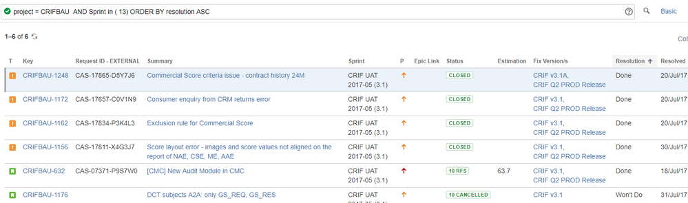 JIRA-Query results - Spring with resolved issues.PNG