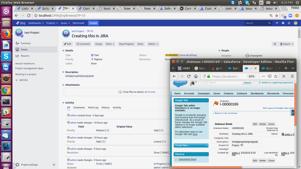 Able to push the issue from JIRA to Salesforce.png