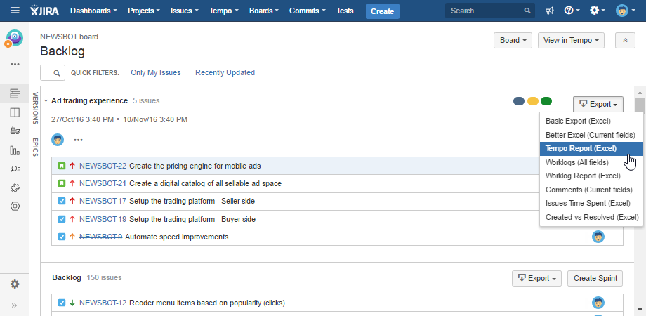 jira-agile-backlog-xls-export