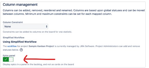 Epics Panel Option from JIRA documentation - WHERE IS THIS.png