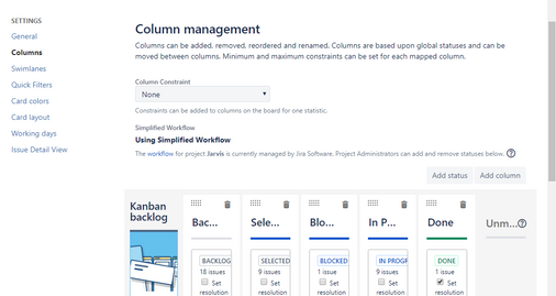 My JIRA Column Management - No Epics Panel Option.png