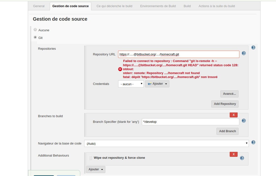 Solved: Bitbucket + Jenkins checkout not working