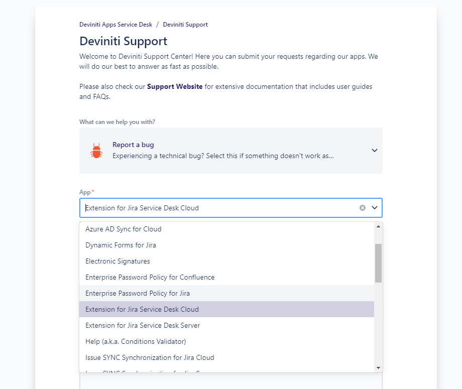 2019_10_30_13_31_22_Report_a_bug_Deviniti_Support_Service_Desk.png