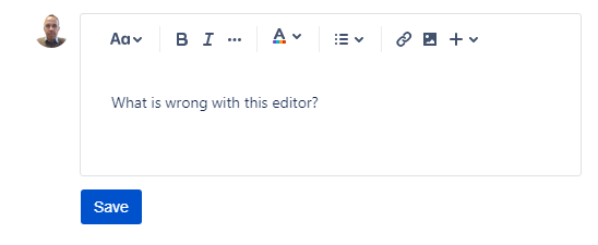 What is wrong with this editor in Jira Service Desk Portal.png