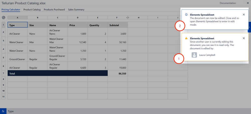 Elements Spreadsheet concurrent editing notifications.png