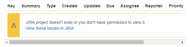 Jira Project doesn't exist or you don't have permission to view it.png