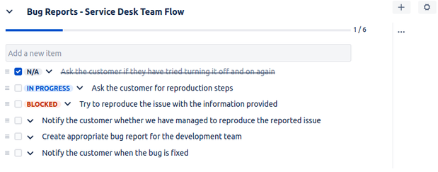 Multiple Checklists for Jira - Bug reports.png