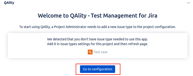 qality test management for Jira qality-toconfigure.png