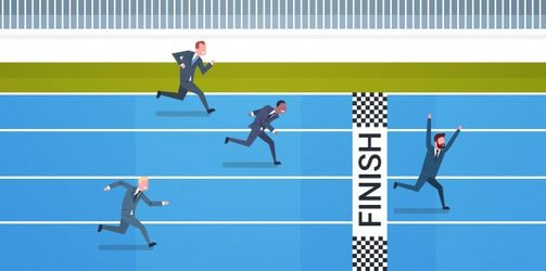 group-business-people-running-finish-line-leadership-competition-concept_48369-12543