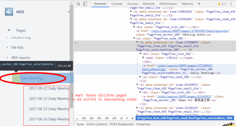 Inspect element of Daily Meetings parent page.png