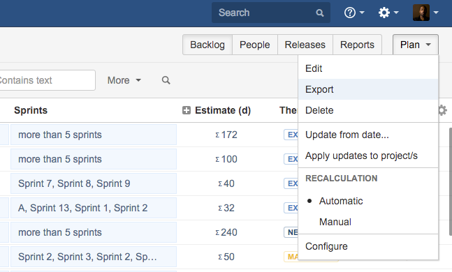 how to create a project plan in jira