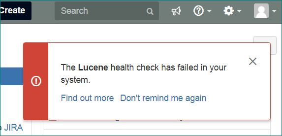 jira local lucene helath check failed reminder.JPG