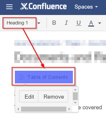 Solved: Table Of Contents MACRO in Confluence keeps making