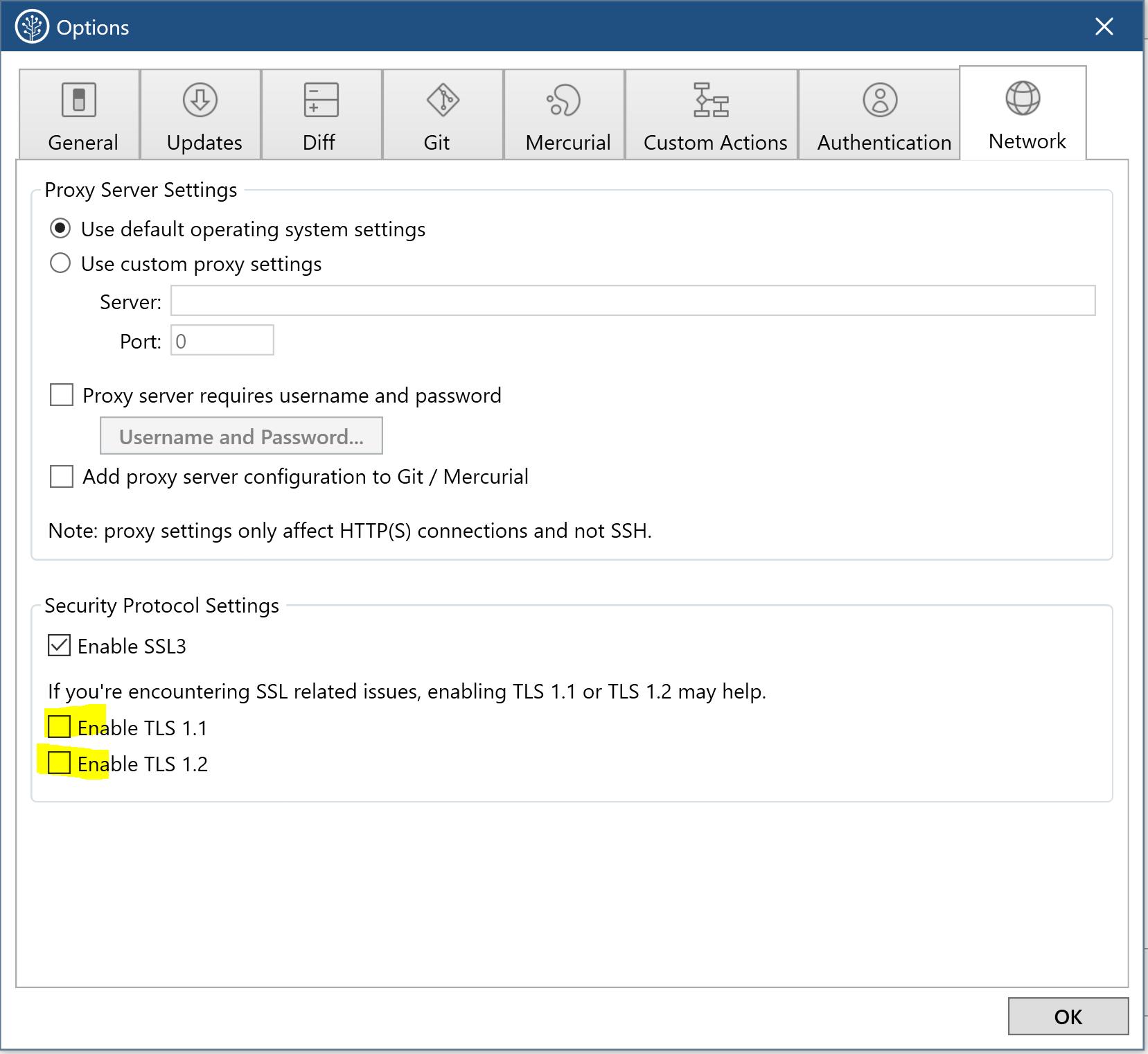 Sourcetree to Bitbucket Server behind SSL not work
