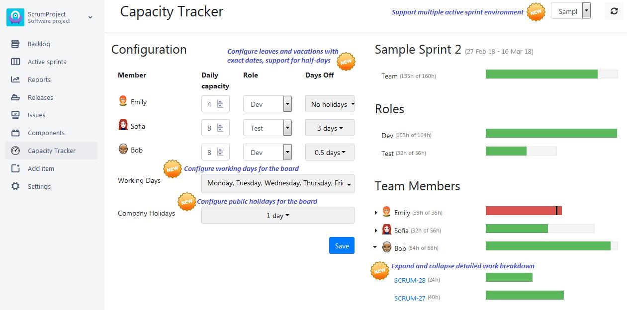 Jira Agile How To Set Team Capacity For Sprint
