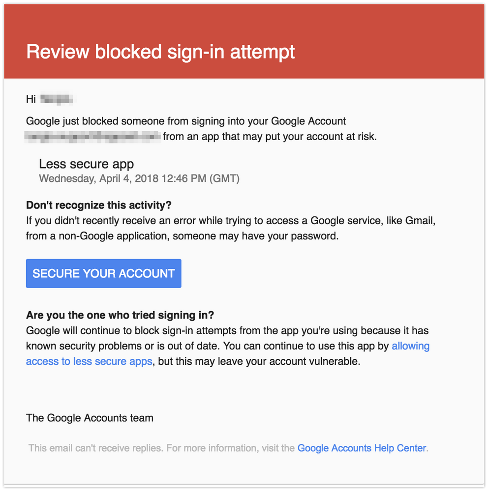 Solved: Unable to connect to Gmail (Google Apps) for custo