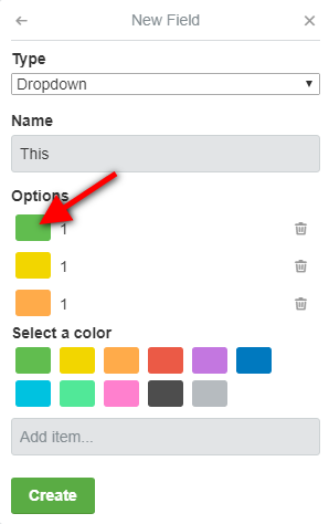 Solved: How to add colors to drop-down list item?