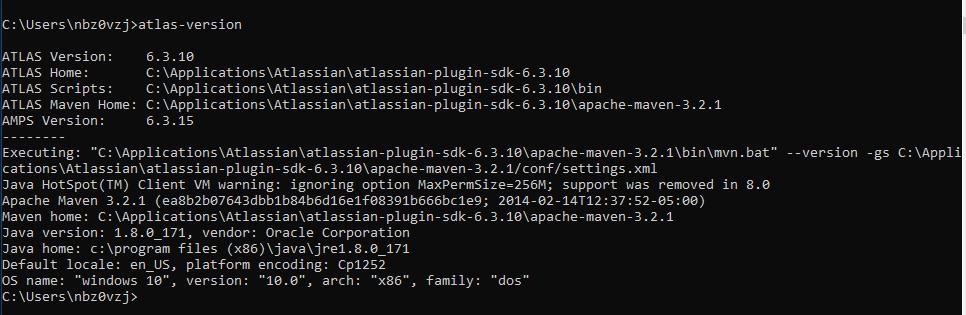 Build failure when running atlas-create-jira-plugi