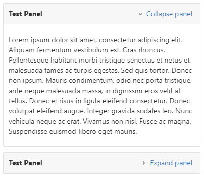 A User Macro for Making Panels Collapsible