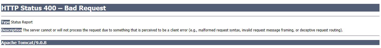Confluence HTTP Error 400