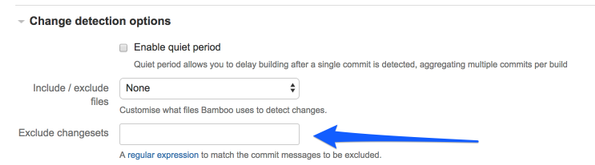 Solved: Skip Bamboo builds using commit message?