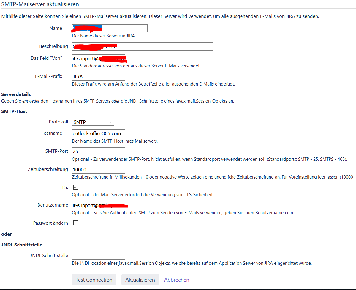 How do I set up an Office 365 email account for Ji