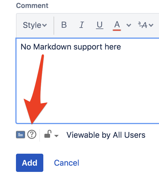 Using markdown in Jira