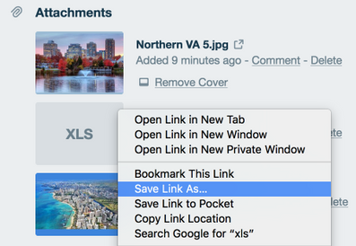 Downloading attachments off trello