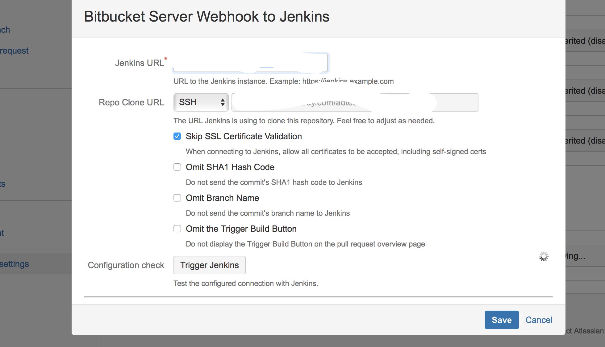 Webhook to Jenkins for Bitbucket Server and Jenkin