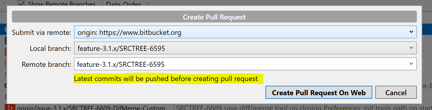 Sourcetree Windows 404 on Create Pull Request on t