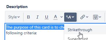 Comment strikethrough formatting not working