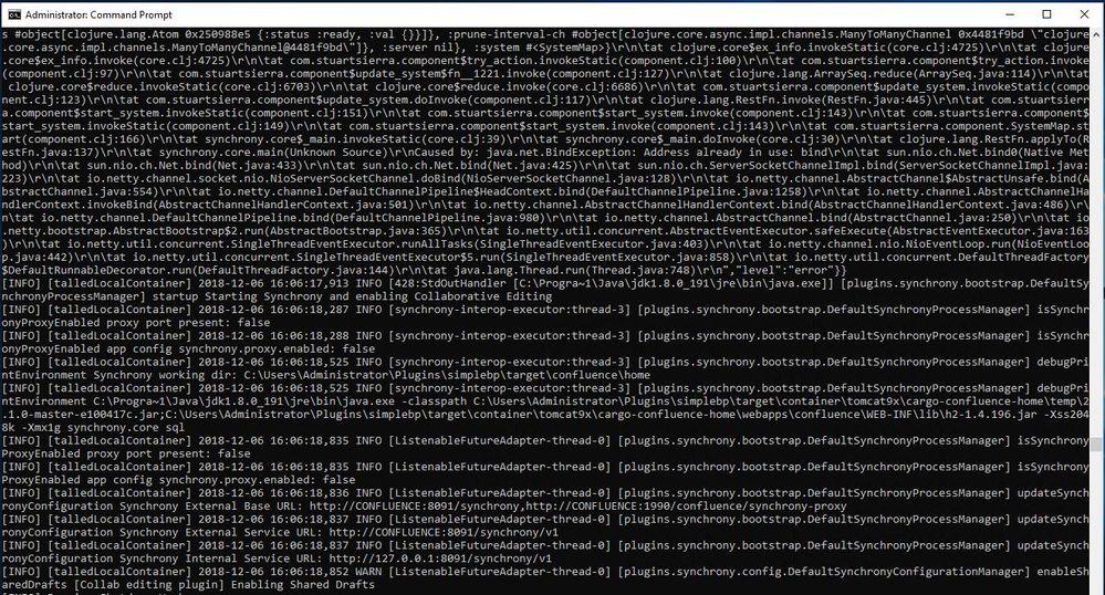 atlas-run A fatal error with Java Runtime Environm...