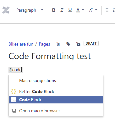 Solved: How to paste code properly in Confluence 4