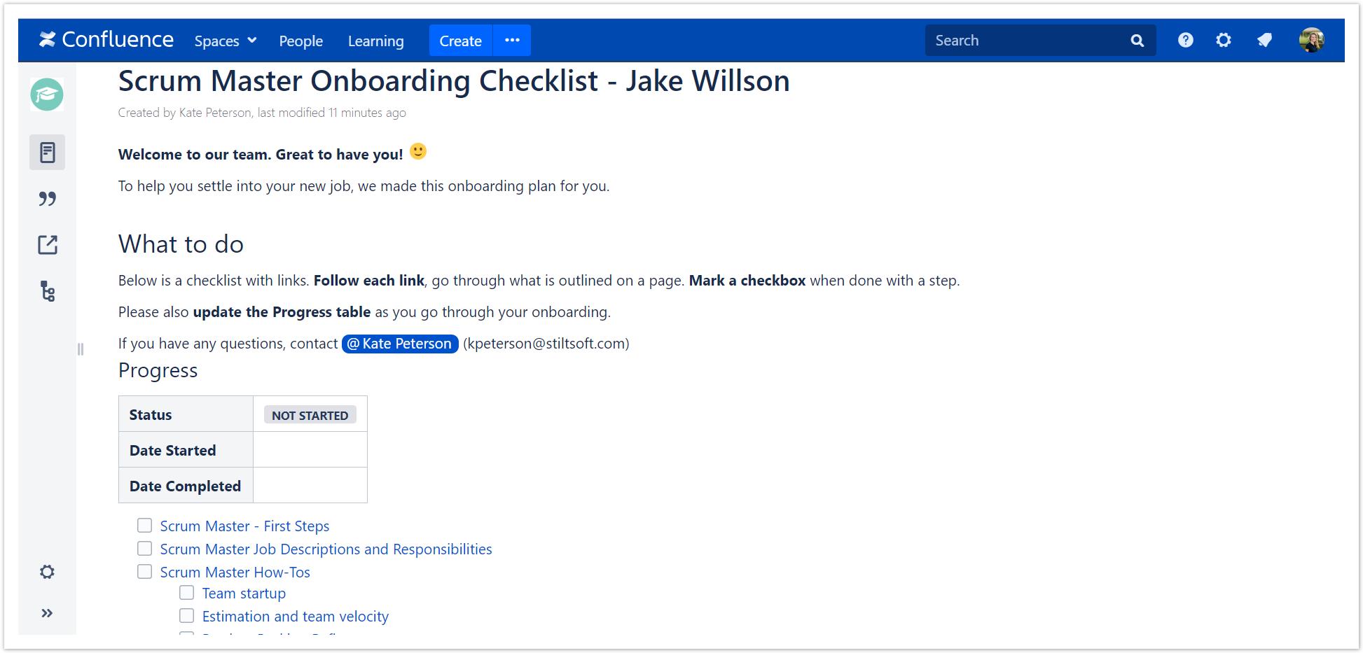 Organize onboarding and orientation of new employe    - Atlassian