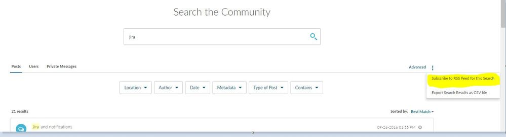 RSS feed to Searches.JPG