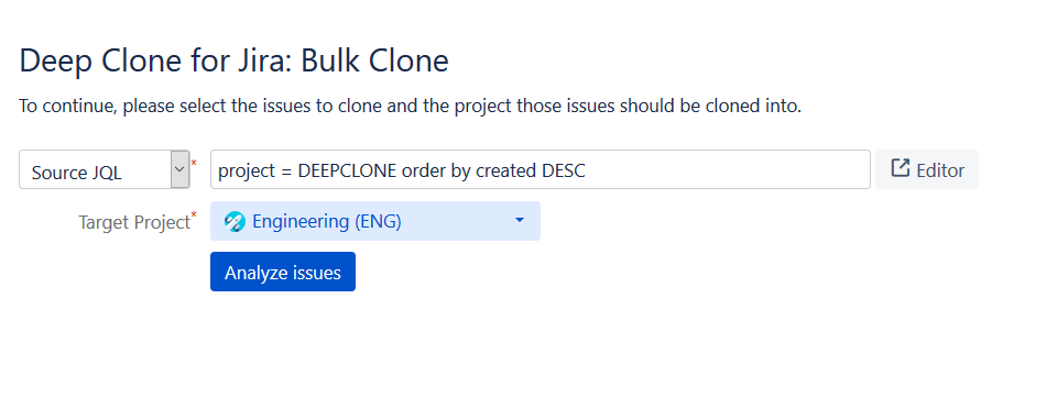 Solved: How to clone a Project and it's Issues?