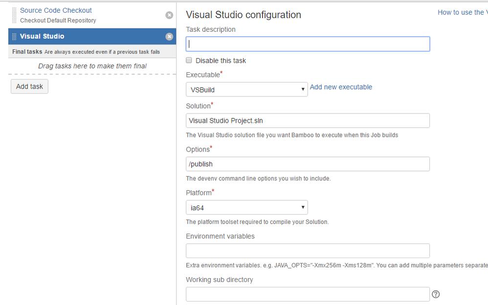 How do i build  Net project using MsBuild and Visu