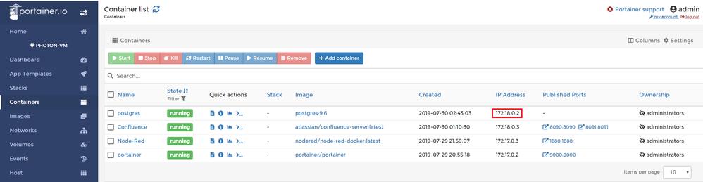 Direct JDBC for PostgreSQL and Confluence in Docke