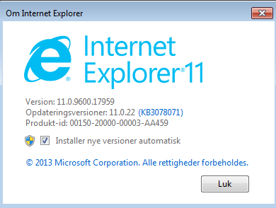 Internet Explorer 11 Issue (all of a sudden)