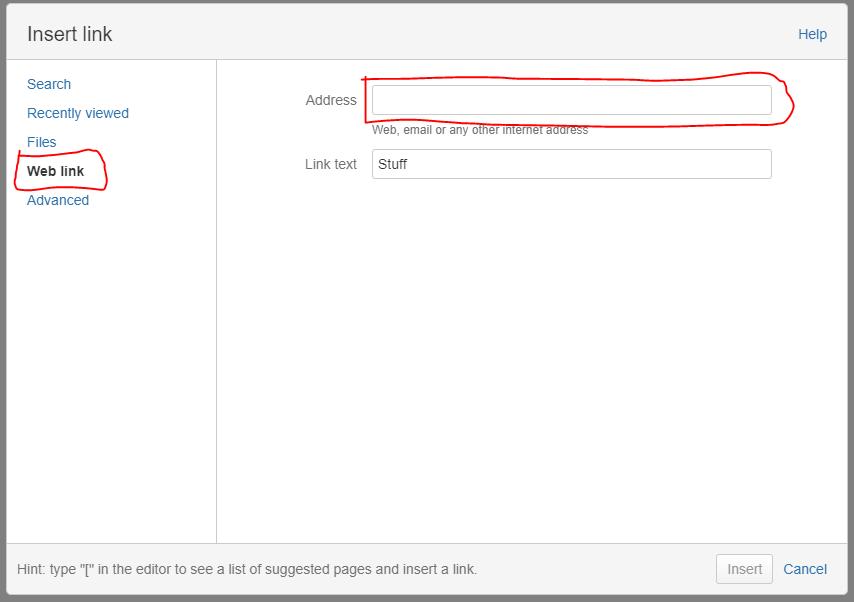 How do I link to a Dropbox file?